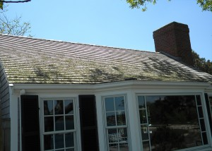 Before Roof Cleaning by CleanMyRoofLLC.com Cape Cod, MA