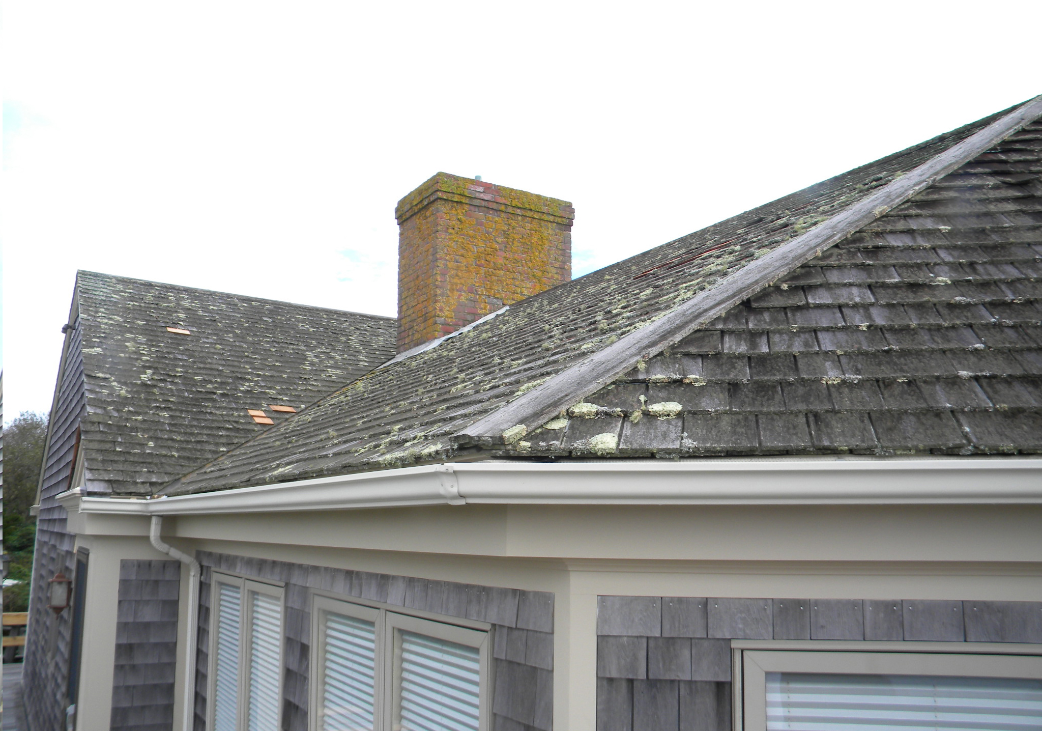 Before Roof And Chimney Cleaning.